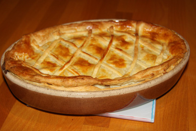 Tourte au poulet façon chicken and mushroom pie