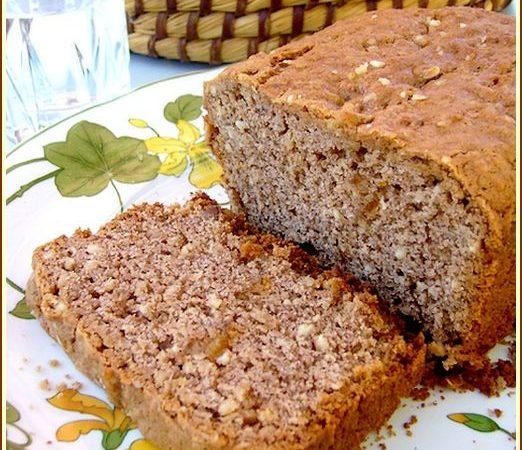 Cake noisette farine de chataîgne orange confite
