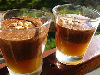 Duo mousse au chocolat et caramel de pommes au beurre salé