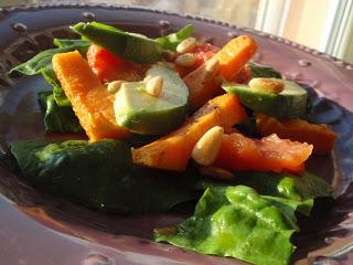 Salade épinards patates douces