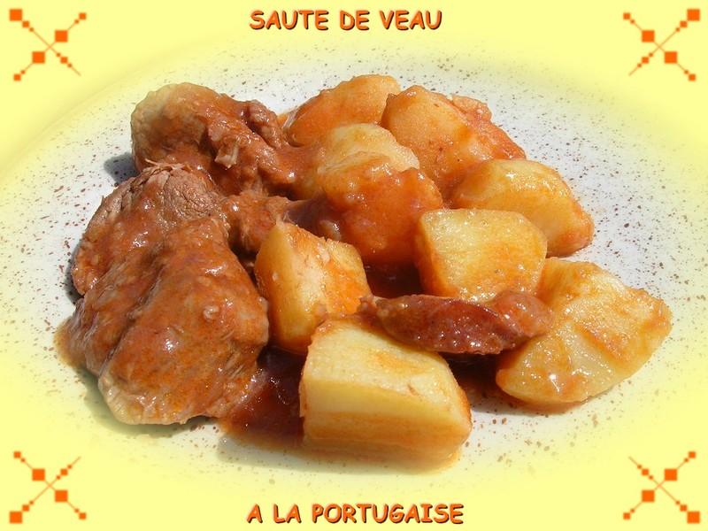 LE CÉLÉBRISSIME SAUTÉ DE VEAU À LA PORTUGAISE!!