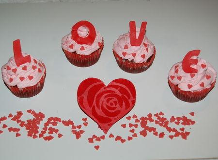 Cupcakes des amoureux (Saint Valentin)