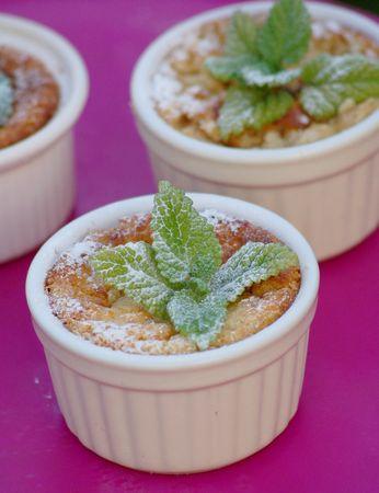 Pudding de brioche au parfum de Citron et Mélisse
