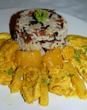 Curry de poulet à l'ananas et mangue (WW)