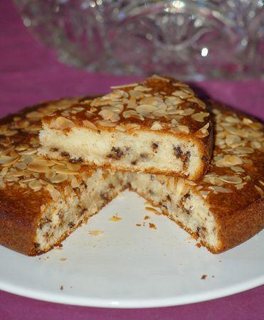 Gâteau au yaourt, amande et pépites de chocolat (sans oeuf!!)
