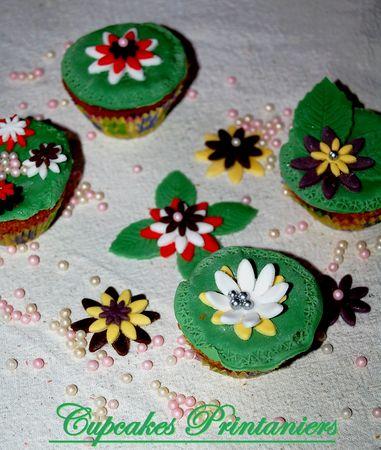 Cupcakes printanier (décor en pâte à sucre)