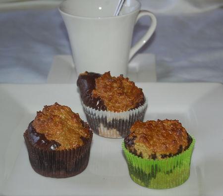 Muffins pistache et chocolat au son d'avoine (Dukan, pp et pl)