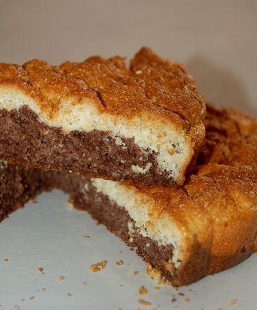 Gâteau marbré chocolat – vanille (Dukan, pl)